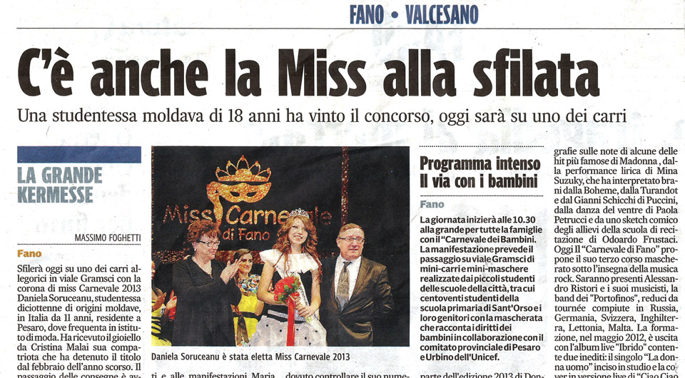 Miss Carnevale Fano